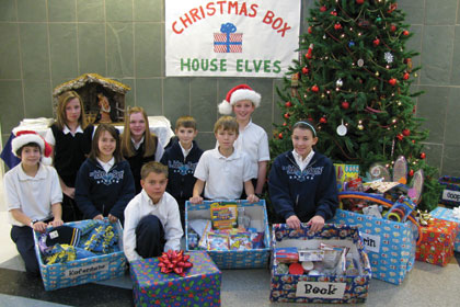 saint john the baptist students learn the gift of giving