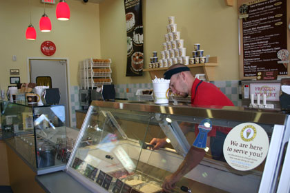 Marble Slab Creamery is unique to Utah, and offers premium