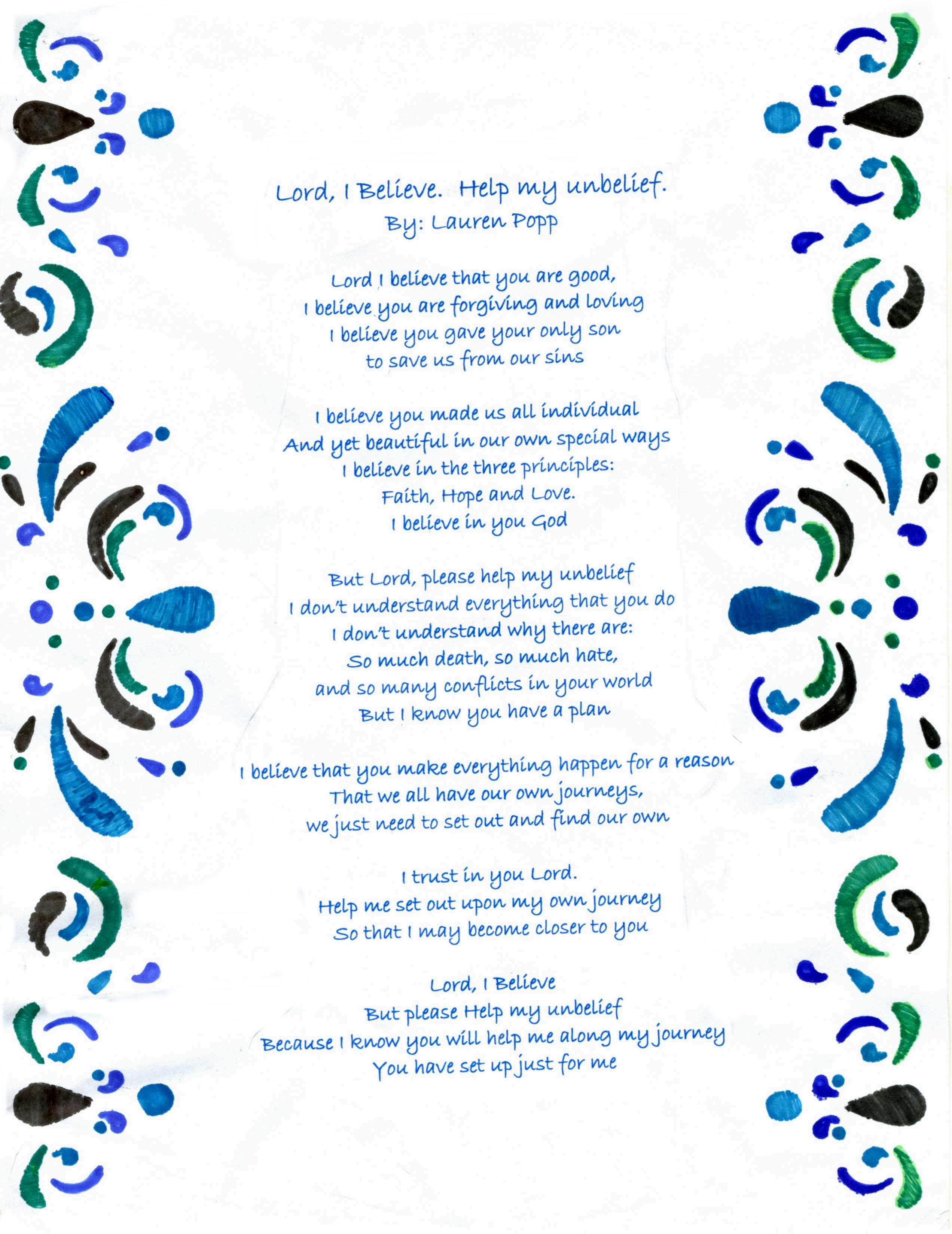 Juan Diego student's prayer wins national contest ...