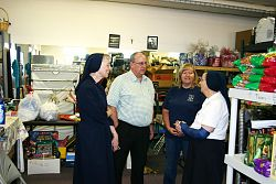 Superior General Father G. Gregory Gay of the Vincentians visits members in Utah