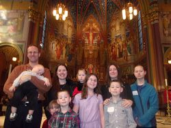 Family of 10 to be welcomed into the Church at Easter