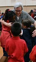 Parish community thanks Lorena Needham as she steps down as principal of St. Marguerite School