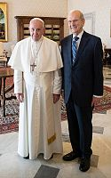 Pope meets top leaders of The Church of Jesus Christ of Latter-day Saints