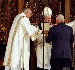 Diaconate candidates receive the Rite of Lector