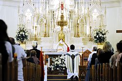 Eucharistic adoration offers time alone with God