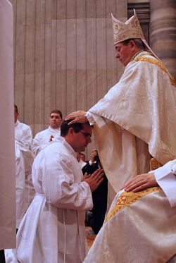 'I was just ordained a deacon!'