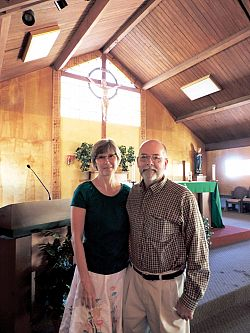 Deacon Rick and Lori Klein depart