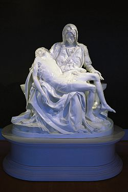 Replica of the Pietà on display in St. George