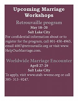 Upcoming events to help marriages