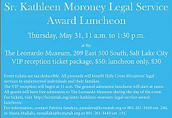 Sister Kathleen Moroney Legal Service Award luncheon is open to all the community