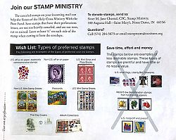 Stamps help Sisters of the Holy Cross